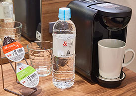 Coffee Maker & Bottled Aso Natural Mineral Water